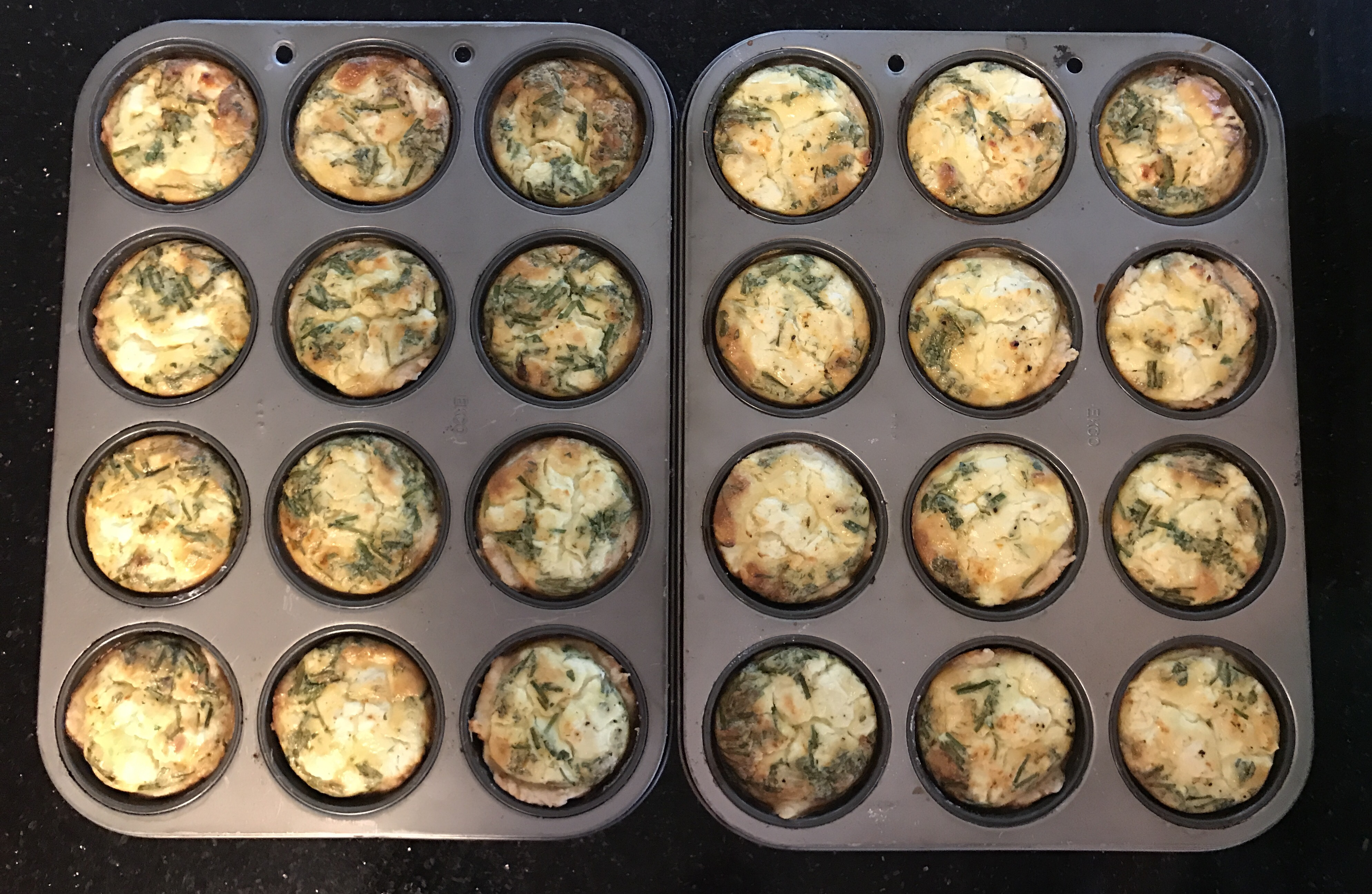 Personal Goat Cheese & Herbs Quiches